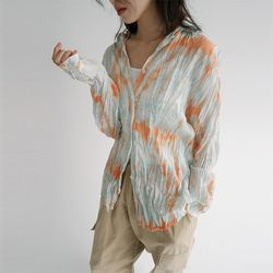 watery crease blouse (2colors)