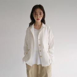 two pocket linen jacket (ivory)