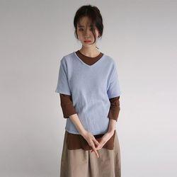 reglan half sleeve knit (3colors)