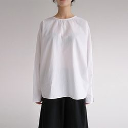 sheer sleeve puff blouse (2colors)