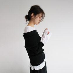 sensual mood off-shoulder knit (2colors)