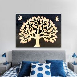 인테리어액자 벽장식 새돈나무 부자되는 그림액자