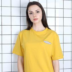 TOi TSW 로고 반팔 티셔츠 머스타드