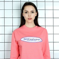 TOi TSW 로고 긴팔 티셔츠 핑크