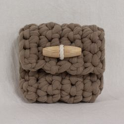 Duffle knit case (Mocha)