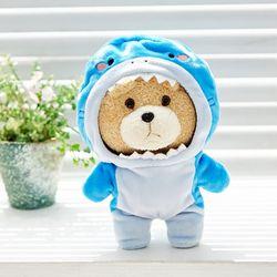 19곰테드 동물옷 상어 샤크 우주복 캐릭터 인형