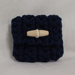 Duffle knit case (Navy)