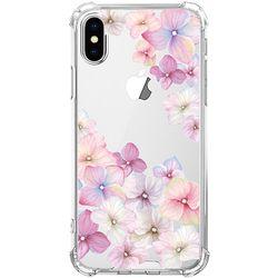 스키누 x  Pink Flower 투명케이스 -아이폰X XS