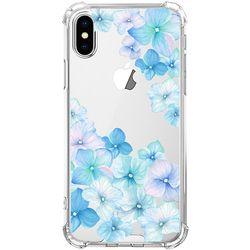 스키누 x  Blue Flower 투명케이스 -아이폰X XS