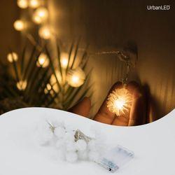 어반 LED 눈꽃전구 30구 기본점멸형