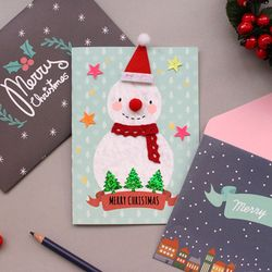 반짝스노우맨 카드&봉투 10SET