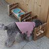 3단높이조절 애견식기 도자자기 강아지 고양이밥그릇