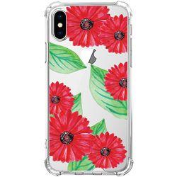스키누 x  Red Flower 투명케이스 -갤럭시 S8