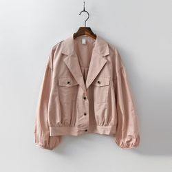 Linen Volume Short Jacket