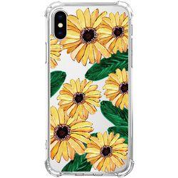 스키누 x  Yellow Flower 투명케이스 -갤럭시 S10+