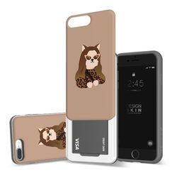 아이폰876플러스 슬라이더 명화 모나리자냥 카드케이스