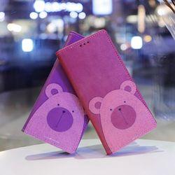 LG X4 (LG X410) Ventosa-Bear 지갑 다이어리 케이스