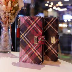 LG X4 (LG X410) Encanto-Clasica-T 지퍼 지갑 다이어리 케이스