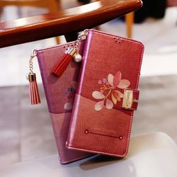 LG X4 (LG X410) Encanto-QChasse-T 지퍼 지갑 다이어리 케이스