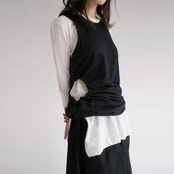 sensual line string sleeveless (2colors)