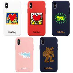 스키누 x  Keith Haring 컬러젤리 케이스-아이폰XSMAX