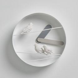 하오스 참새 라운드 벽시계 - 그레이