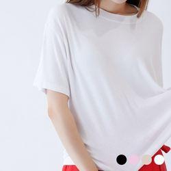 베이직 스판 라운드 티셔츠 4COLOR