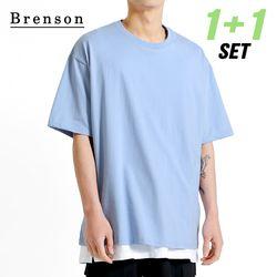 [1+1] [패키지] 프리미엄코튼 essential 오버핏 반팔 티셔츠 7컬러