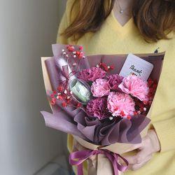 비누꽃 카네이션 용돈 꽃다발