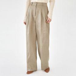 cover pintuck linen slacks (s m)