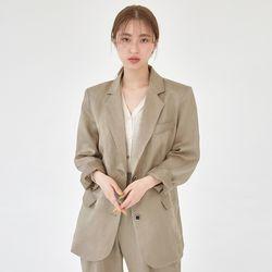 cover mannish linen jacket