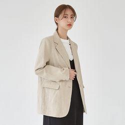 hour modern linen jacket