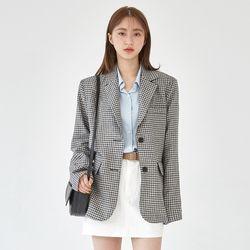 baguette linen check jacket