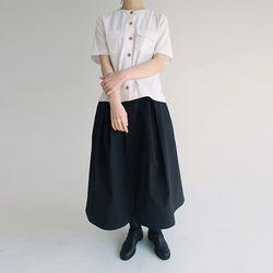 cotton fatigue banding skirt