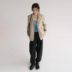 linen pocket jacket (2colors)