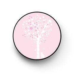 꽃나무 아래 핑크 핑걸링 스마트톡