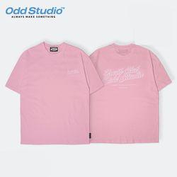 오드스튜디오 유스클럽 티셔츠 - PINK
