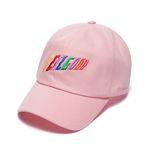 RAINBOW BASEBALL CAP PINK