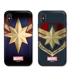[T]캡틴마블 엠블럼 더블범퍼 케이스.아이폰6(s)