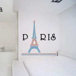 입체 우드 포인트 스티커 레터링 그랙픽 벽지 DIY 에펠탑