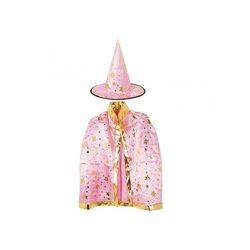 할로윈 별무늬망토 모자세트 핑크
