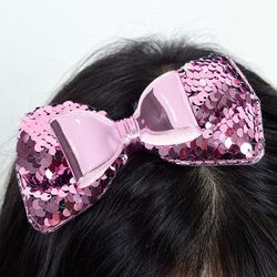 입체 리본머리띠 핑크