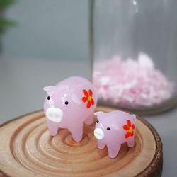 유리 핑크 돼지 2P세트