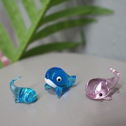 유리 고래 가족 3P세트
