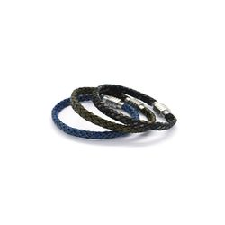 [오뜨르뒤몽드]flat leather men Bracelet (3colors)