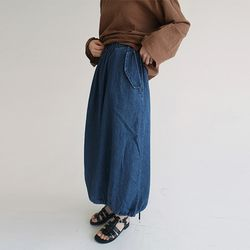 bottom string detail skirts (2colors)