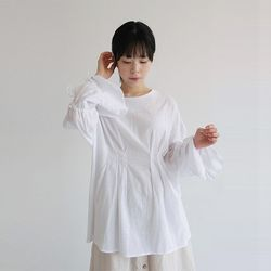 pintuck twine blouse (2colors)
