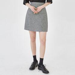 ringo check mini skirt (s m)
