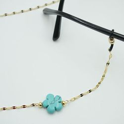 Flower Turquoise surgical glasses chain