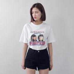 [로코식스] 빈티지 라운드 반팔 티셔츠